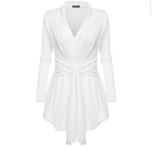 Tops - NWOT White Wrap Top